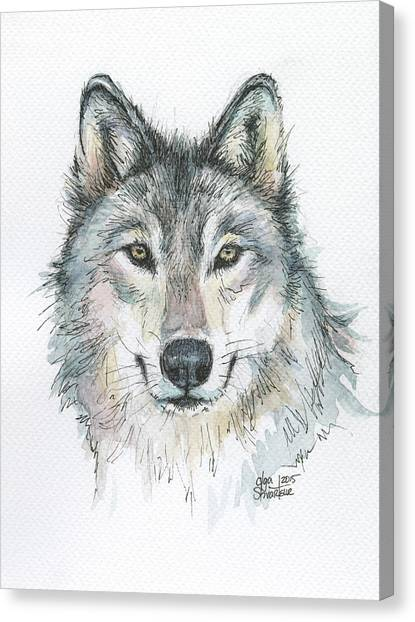 Small Mammals Canvas Print - Wolf by Olga Shvartsur