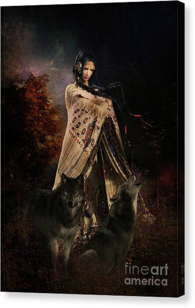 Southwest Canvas Print - Wolf Song by Shanina Conway