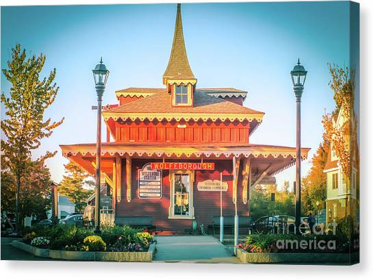 Wolfeboro Station In October Canvas Print