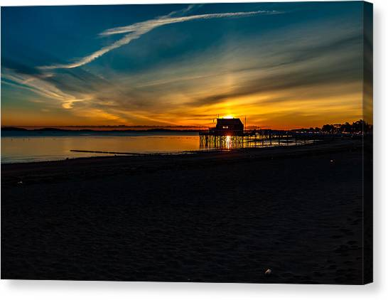 Wollaston Beach Sunrise 3 Canvas Print