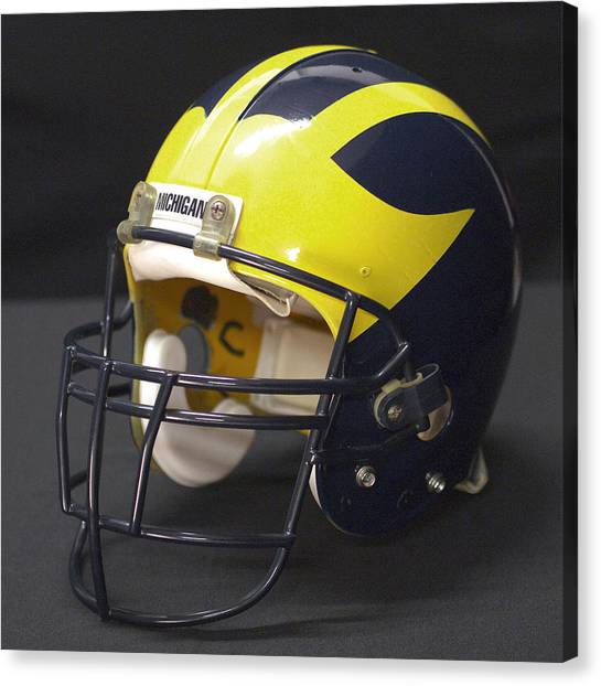 Wolverine Helmet From The 1990s Canvas Print