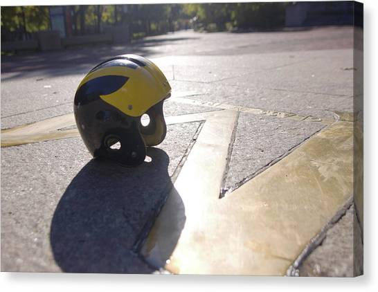 Wolverine Helmet On The Diag Canvas Print