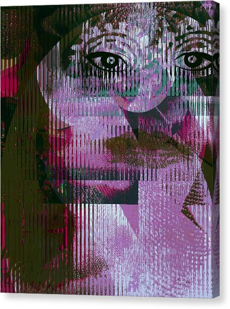 Woman - Art And Theory Canvas Print by Fania Simon