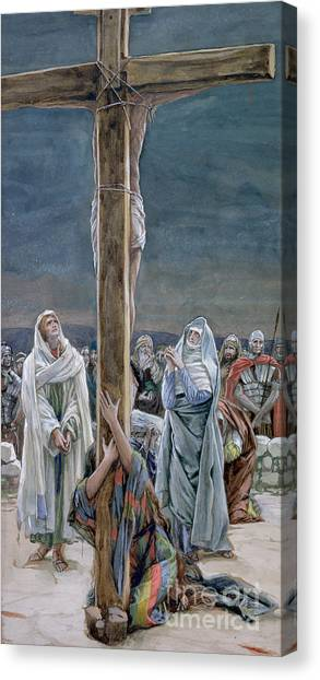 Crucify Canvas Print - Woman Behold Thy Son by Tissot