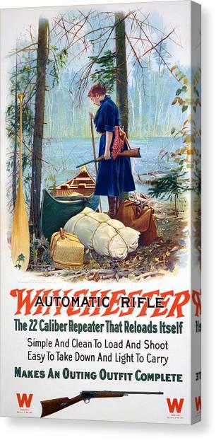 Woman Camper  Canvas Print
