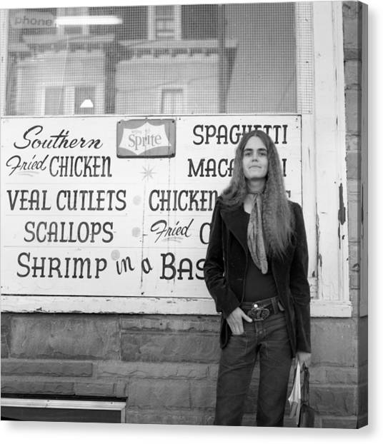 Woman Contemplates Scallops, 1972 Canvas Print