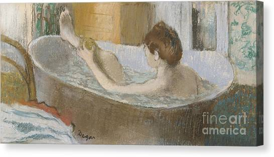 Women Canvas Print - Woman In Her Bath by Edgar Degas