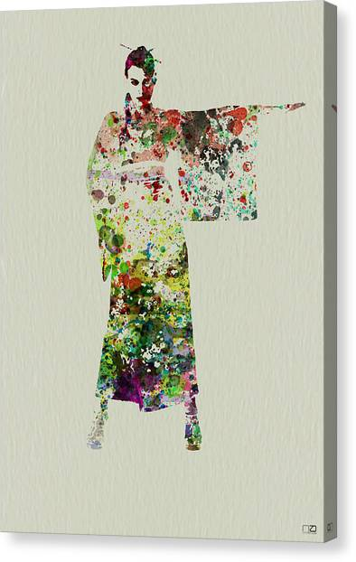 Japanese Canvas Print - Woman In Kimono by Naxart Studio