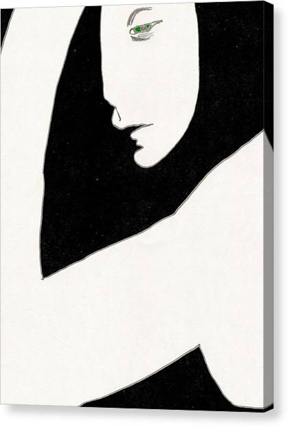 Woman In Shadows Canvas Print