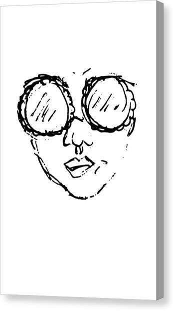 Woman In Sunglasses Canvas Print