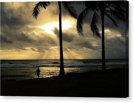 Woman In The Sunset  Canvas Print