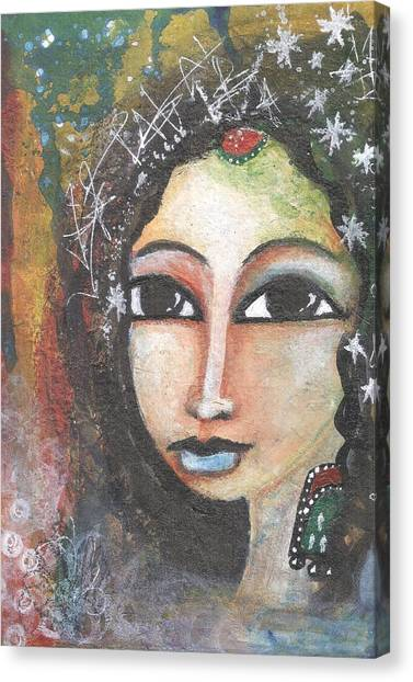 Woman - Indian Canvas Print
