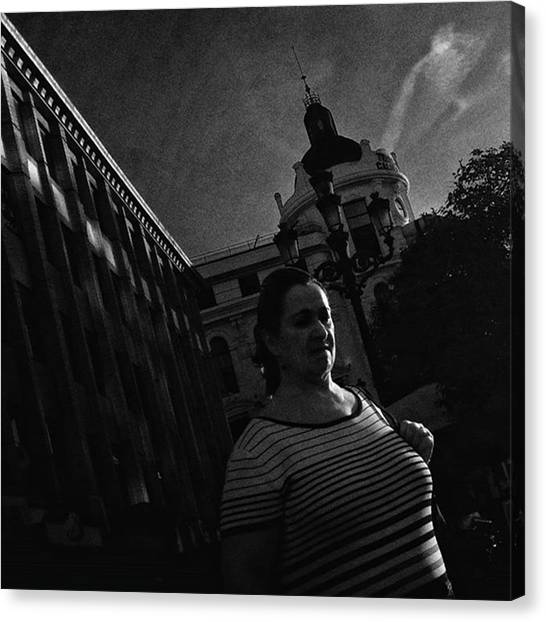 Madrid Canvas Print - #woman #people #architecture #lowkey by Rafa Rivas