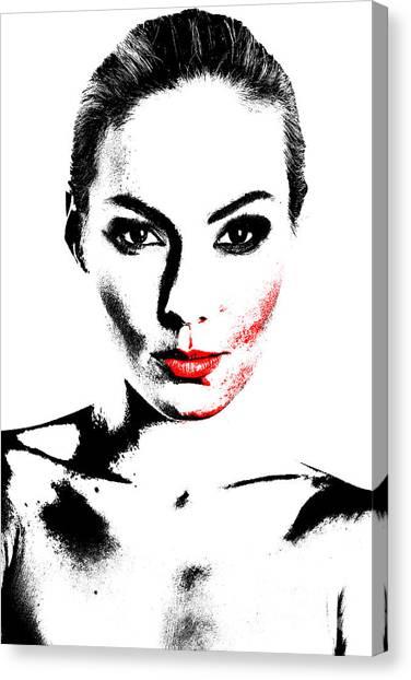 Woman Portrait In Art Look Canvas Print