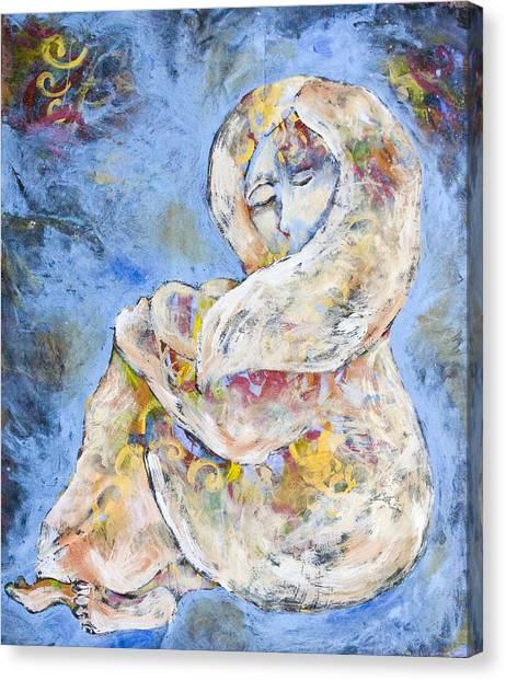 Woman Seeking Solace Canvas Print by Sara Zimmerman
