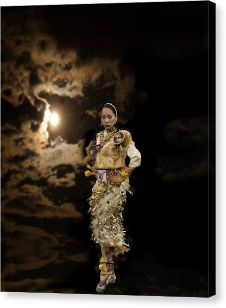 Woman Who Dances With Moon Canvas Print