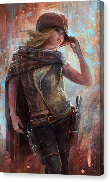 Culture Canvas Print - Woman With No Name by Steve Goad