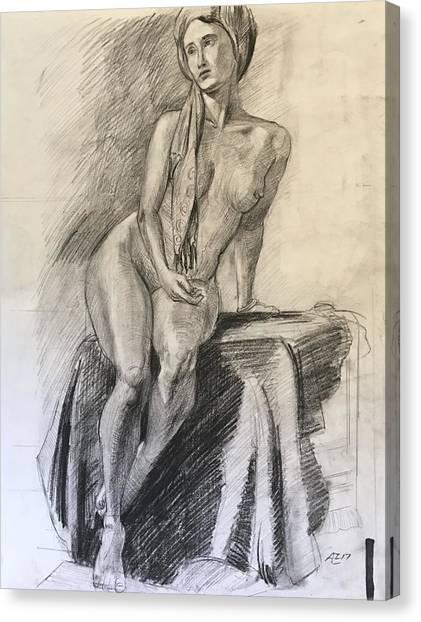 Woman With Turban Canvas Print by Alejandro Lopez-Tasso