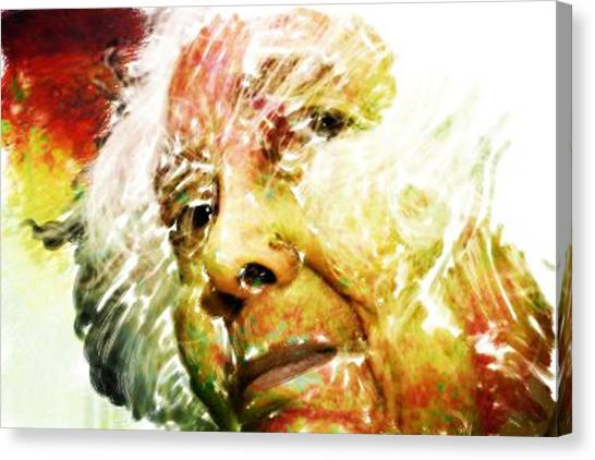 Woman With White Hair Canvas Print by James VerDoorn