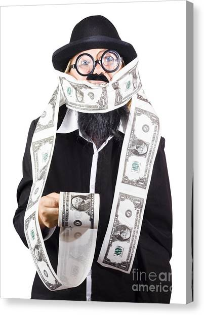 Currency Canvas Print - Woman Wrapped In Money by Jorgo Photography - Wall Art Gallery