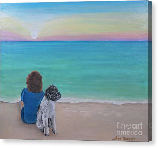 Woman's Best Friend Canvas Print