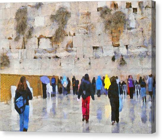 Women At The Wall Canvas Print