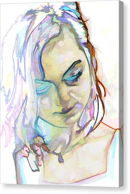 Women Body - Color Face1 Canvas Print by Robert Litewka