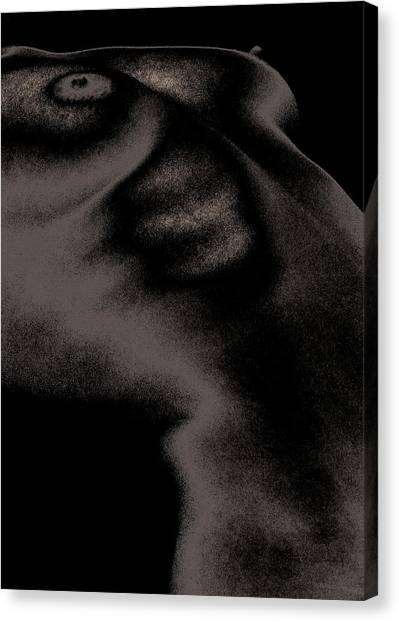 Women Body-metalic Black Canvas Print by Robert Litewka