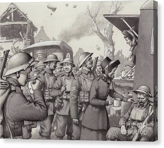 Salvation Army Canvas Print - Women From The Salvation Army During The Great War by Pat Nicolle