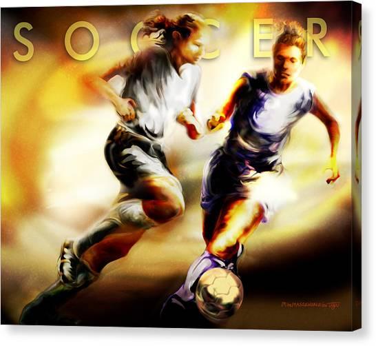 Women In Sports - Soccer Canvas Print