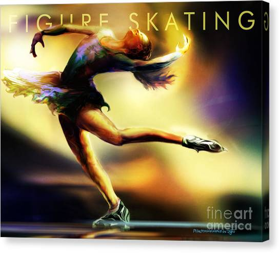 Women In Sports - Figure Skating Canvas Print
