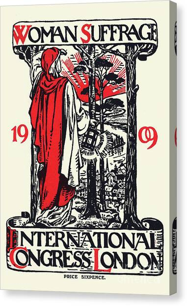 Womens Rights Canvas Print - Women Suffrage International Congress London, 1909 by English School