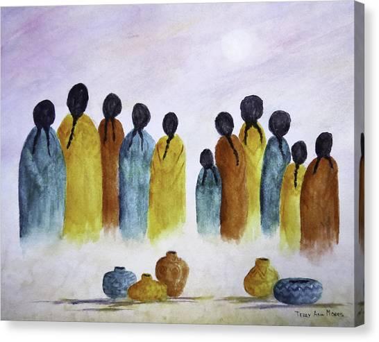 Women Waiting Canvas Print