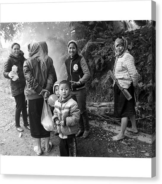 Vietnamese Canvas Print - Women´s Meeting #women #besoftheday by Jesper Staunstrup
