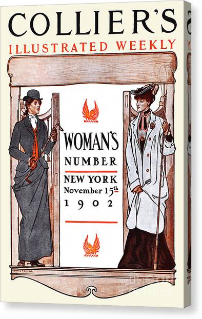 Womens Rights Canvas Print - Women's Number New York, 1902 by Edward Penfield