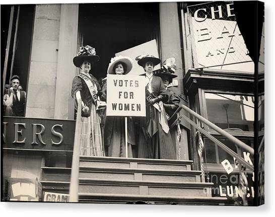 Womens Rights Canvas Print - Women's Suffrage Right To Vote by Mindy Sommers