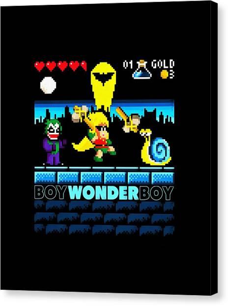 Sega Genesis Canvas Print - Wonder Boy by Dedy Two