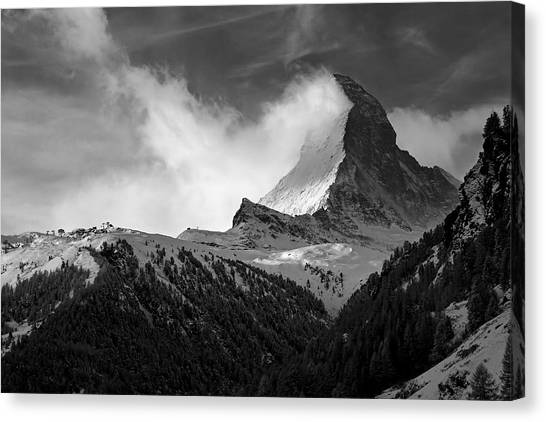 Wonder Of The Alps Canvas Print