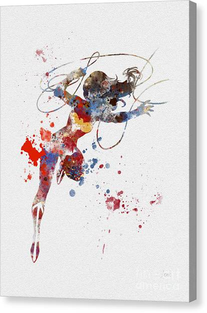 Lassos Canvas Print - Wonder Woman by Rebecca Jenkins