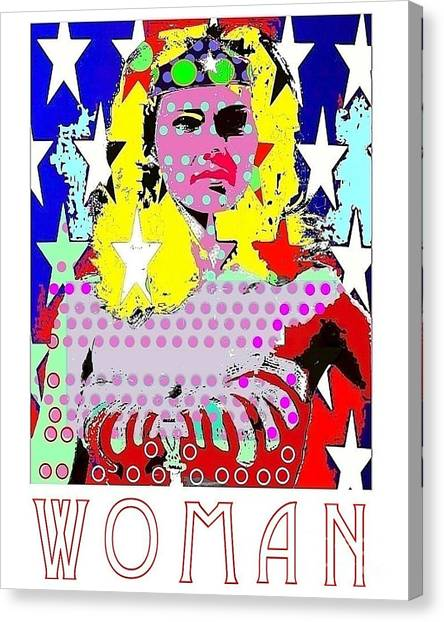 Wonder Woman Canvas Print by Ricky Sencion
