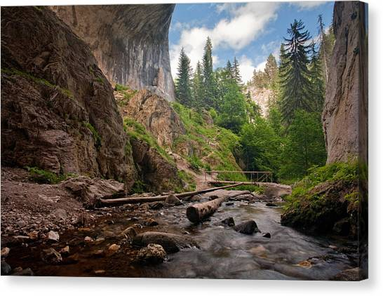 Mountain Caves Canvas Print - Wonderful Bridges by Evgeni Dinev