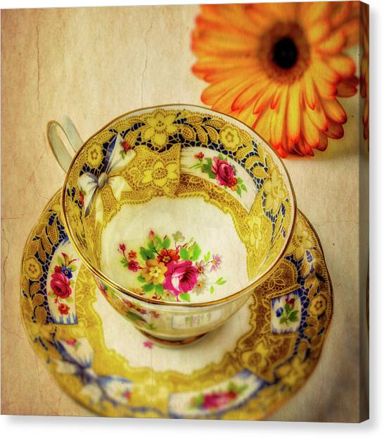 Tea Time Canvas Print - Wonderful Tea Cup by Garry Gay