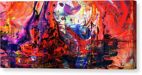 Wonderland - Colorful Abstract Art Painting Canvas Print