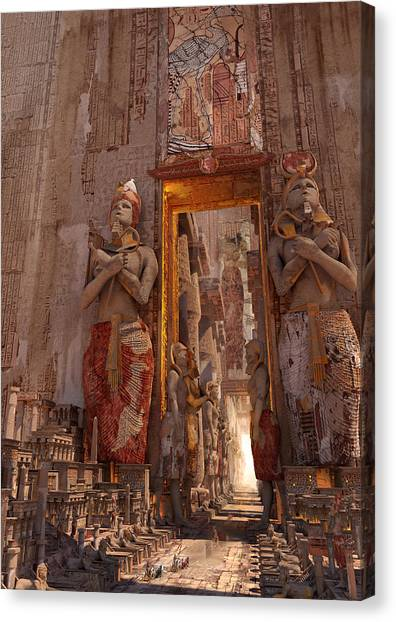 Wonders Door To The Luxor Canvas Print