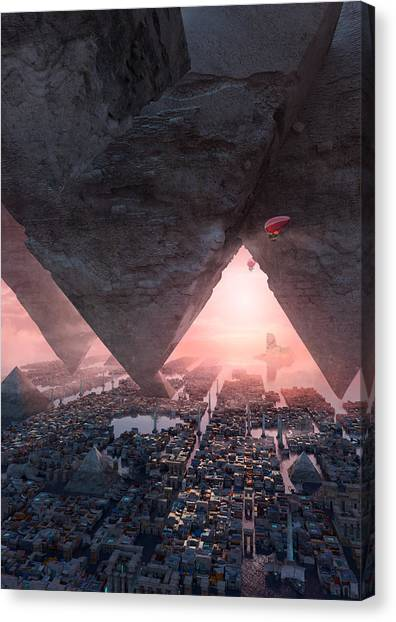 wonders great pyrimaid of Giza Canvas Print