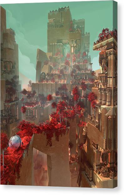 Wonders Hanging Garden Of Babylon Canvas Print