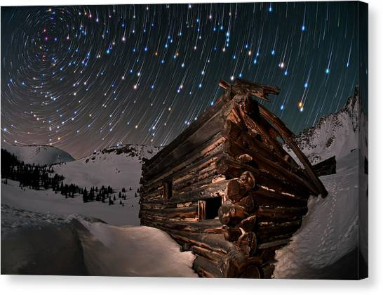 Shooting Stars Canvas Print - Wonders Of The Night by Mike Berenson