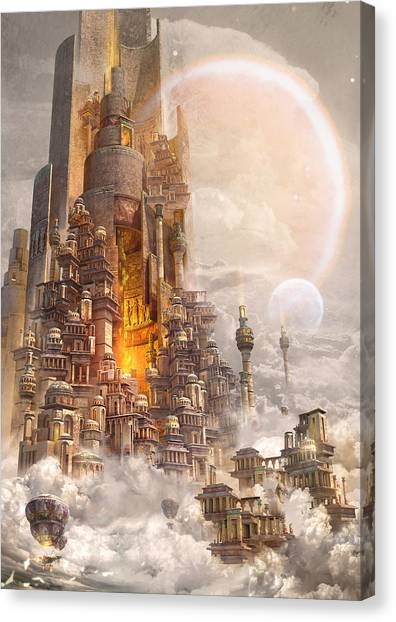 Wonders Tower Of Babylon Canvas Print