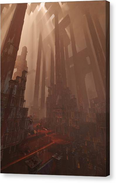 Wonders_temple Of Artmeis Canvas Print