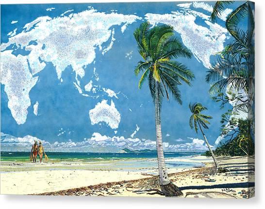 Snorkling Canvas Print - Wonderworld by Chris Degenhardt